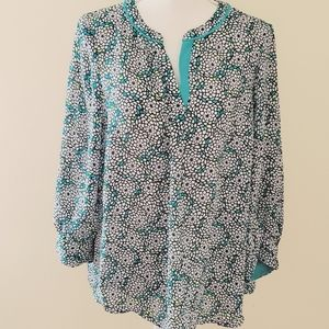 Worthington floral mosaic blouse size 1x